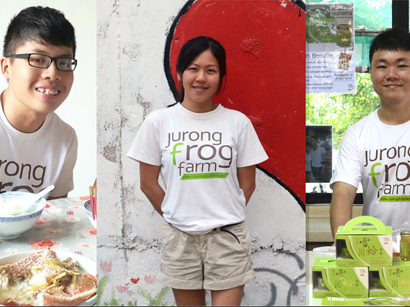 Who are the young Singapore farmers?
